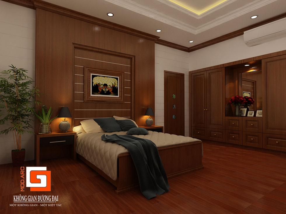 Kiến trúc nội thất phòng ngủ chính 1