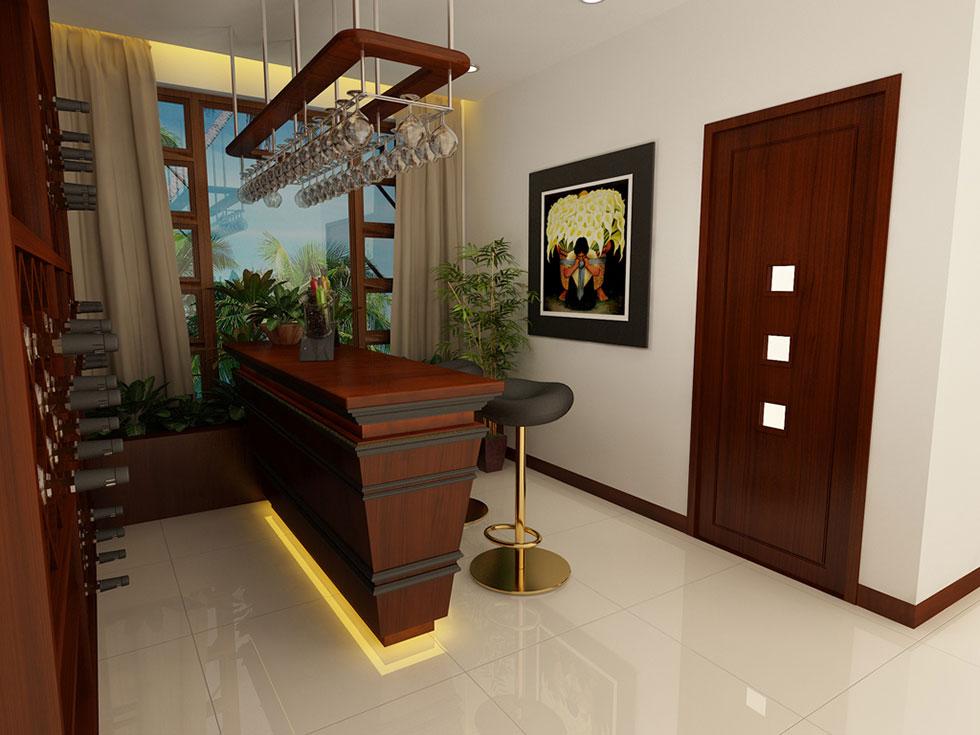 Kiến trúc nội thất quầy bar 1