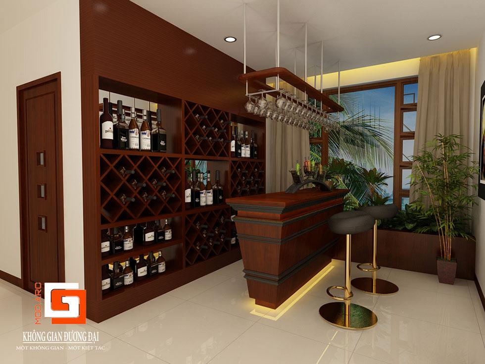 Kiến trúc nội thất quầy bar 2