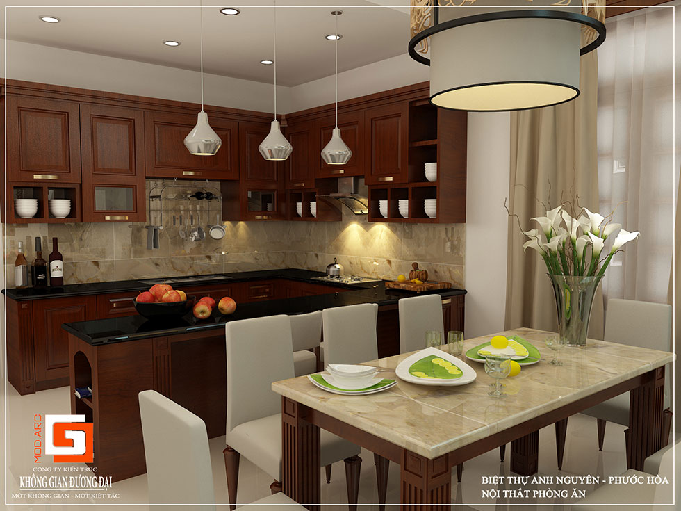 Kiến trúc nội thất phòng ăn