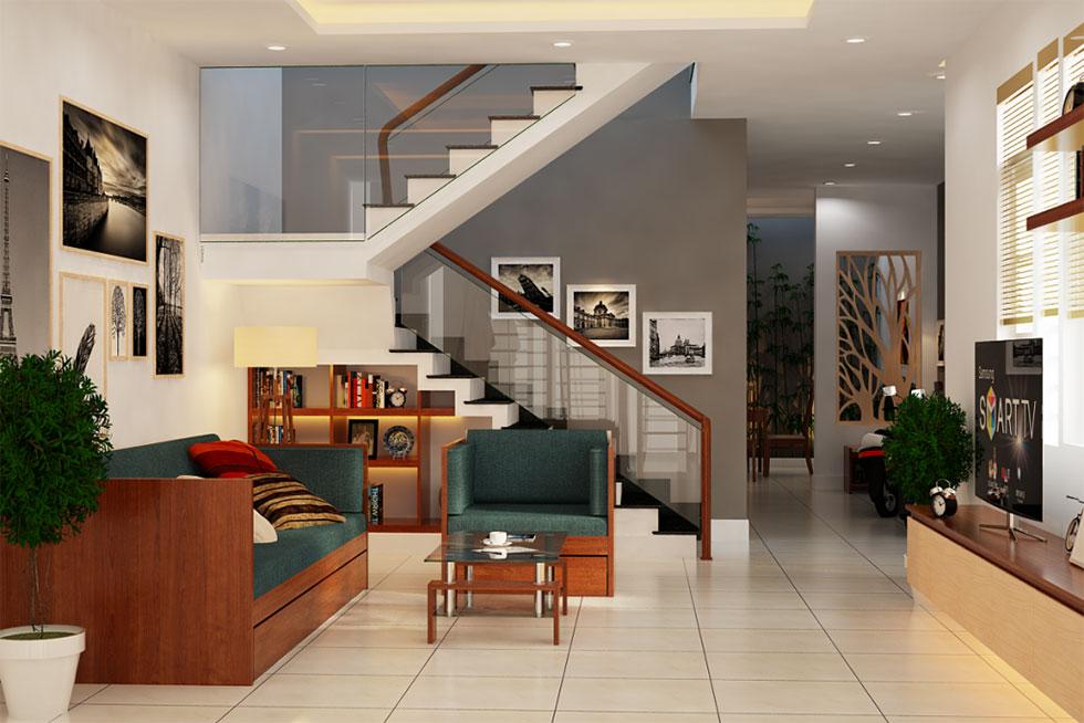 kiến trúc nội thất phòng khách 1