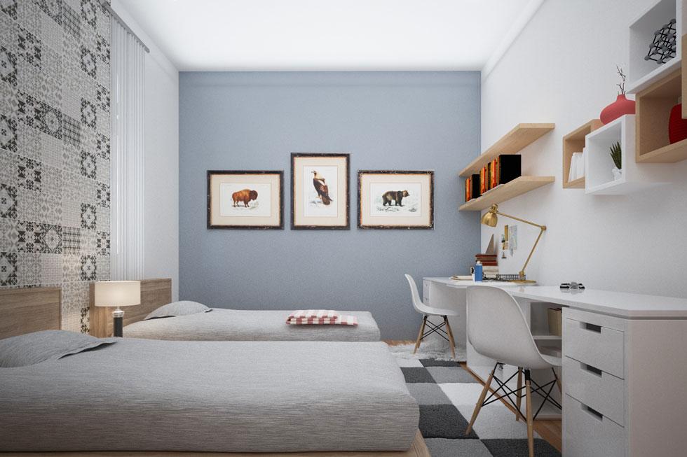 Kiến trúc nội thất - phòng ngủ của con