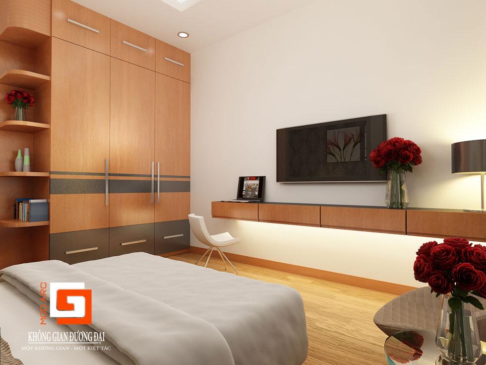 Kiến trúc nội thất phòng ngủ chính 2