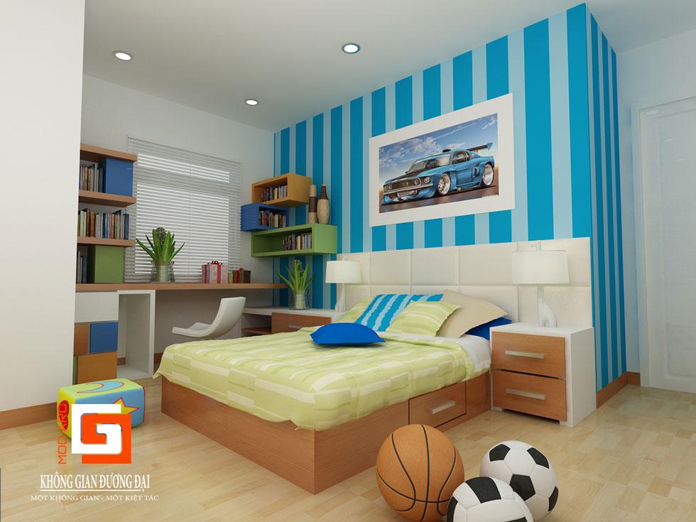 Kiến trúc nội thất phòng con trai 1