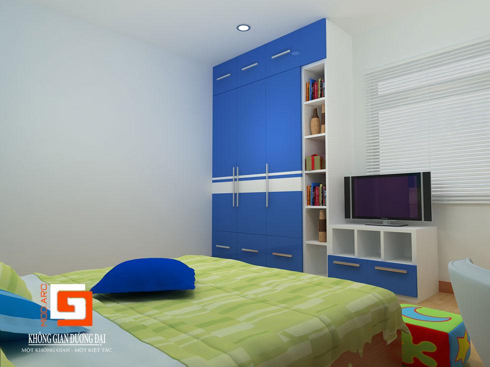 Kiến trúc nội thất phòng con trai 2