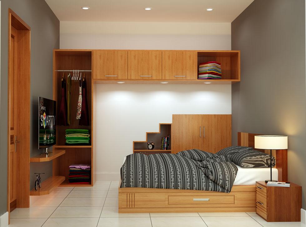 kiến trúc nội thất phòng ngủ của ông