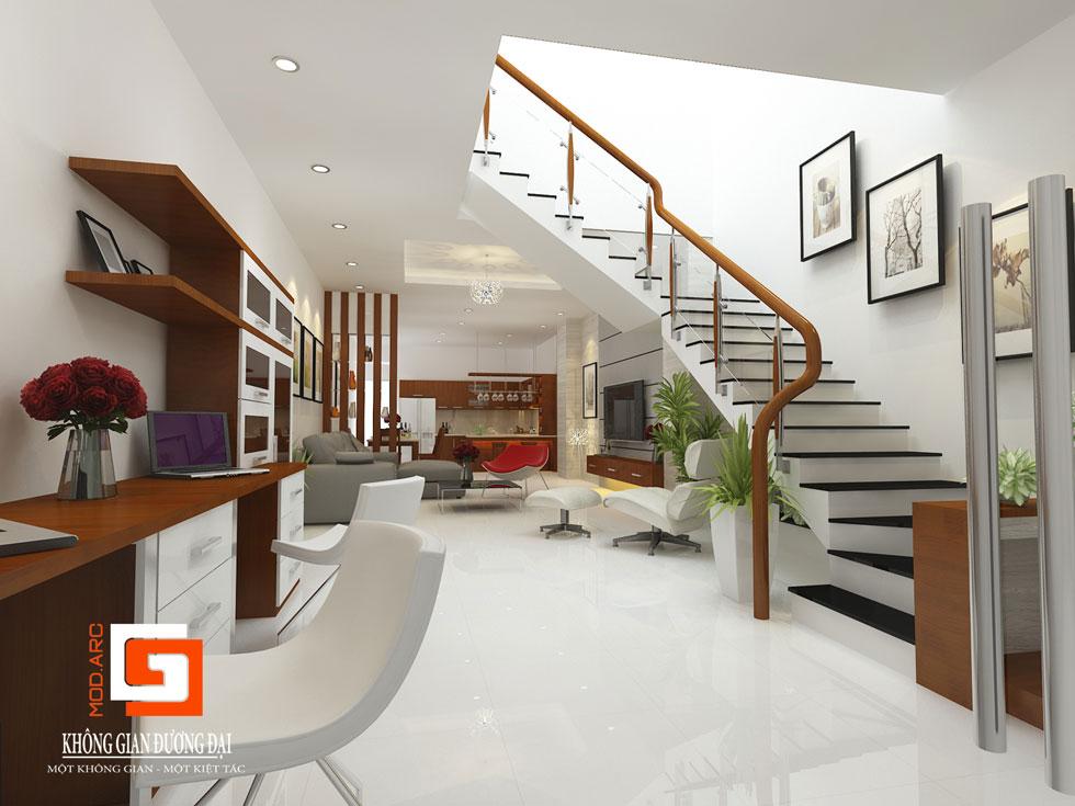 Kiến trúc nội thất phòng khách 3