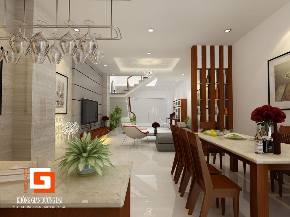Kiến trúc nội thất phòng khách 4