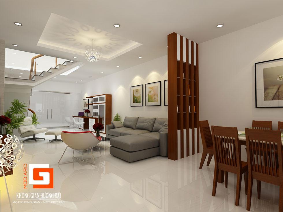 Kiến trúc nội thất phòng khách 5